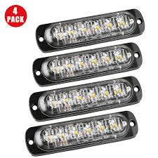 2X4X Amber 6LED Car Truck Emergency Beacon Warning Hazard Flash ... Light Bars Auto Accsories The Home Depot 4 Led Strobe Lights Car Truck Emergency Flash Waterproof Led For Trucks Best Of 1w Solar Powered 24 7 6 Beacon Medium Rectangular High Power Elite Ford Offers 700 Msrp Factory On Every 2016 Fseries 2pcs Quality Strobe Surface Mount Amber Visor Warning 20 Photo New Cars And Installed 2015 Silverado Hd Or 2014 1500 Xyivyg Red 54 Hazard Vehicle Police Grill Trucklite Super 60 Integral Kit 60120y