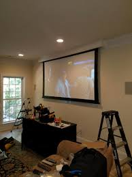 Ceiling Mount For Projector Screen by Home Theater Installation Surround Sound Audio Visual Fort Mill