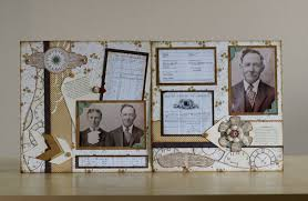 Family History Scrapbooking Layouts