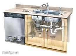 fixing kitchen sink drain kitchen drain repair on kitchen in sink