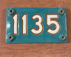 Mexican Tile House Numbers With Frame by Address Tiles Etsy