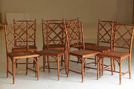 Vintage Rattan Chippendale Style Chairs