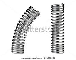 Elastic Metal Spring Dynamic Concept Isolated On A White Background
