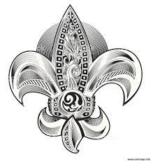 Élément Isolé Du Vecteur Mandala Fleur Floral Coloriage Détaillées