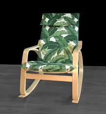 Ikea Poang Chair Cushion And Cover by Tropical Leaf Ikea Poäng Cover Tommy Bahama Swaying Palms