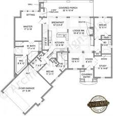 Rustic Ranch Floor Plans House Count Plan Medium