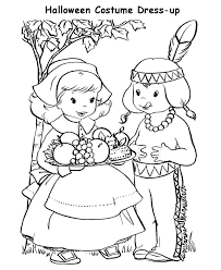 Halloween Costume Coloring Page