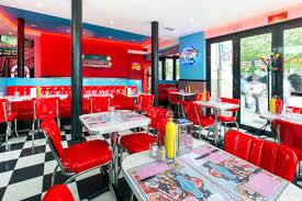 deco americaine annee 50 le café diner restaurant plein centre ville à nantes