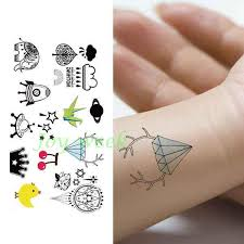 Waterproof Temporary Tattoo Sticker Cute Spacecraft Cartoon Tatto Stickers Flash Tatoo Fake Tattoos For Kids