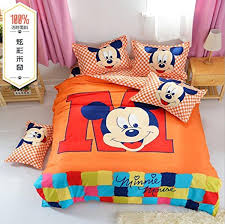 Mickey Mouse Queen Size Bedding by Cartoon Bedding Sets Mickey Mouse Bedding Set Polyester Bed Sheet