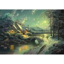Thomas Kinkade Christmas Tree Train by Sunset On Snowflake Lake U2013 Limited Edition Art The Thomas
