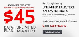 Verizon s $45 Single Line Plans Now Available