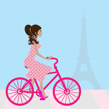 Bicycle Clipart Glamorous Woman