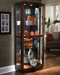 Curved Glass Curio Cabinet Antique by Decorating Elegant Curio Cabinet For Stunning Home Furniture