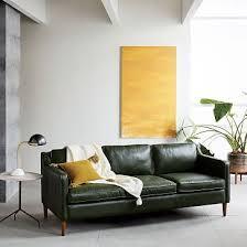 Hamilton Leather Sofa 81quot