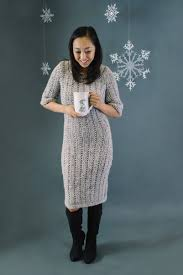 Introducing Cozy Vintage Sweater Dress