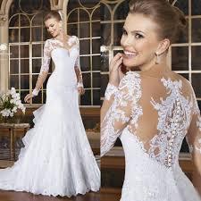 discount 2016 romantic long sleeves mermaid wedding dresses