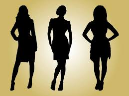 Fashion Models Silhouettes Vector Art Graphics