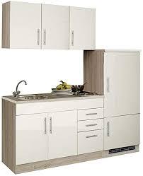 lomadox küchenzeile 180 cm küchenblock einbauküche creme