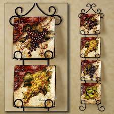 Kitchen Exciting Wine Decor Sets For Cheap Six Square Marvellous