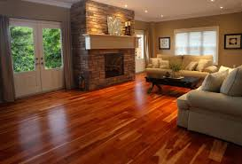 Floor Design Entrancing Living Room Decoration Using Red Cherry Black Hard Wood Flooring Including Light Brown Stone Fireplace Surround And Beige