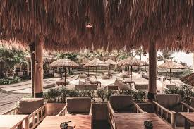 100 Bali Tea House Mano Beach Club Outdoor Dining Lounge Beachfront Bar