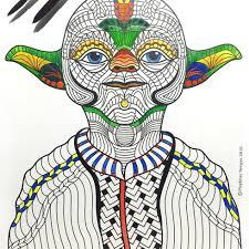 Yoda Zentangle Coloring Page Fan Art Printable PDF