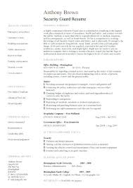 Security Officer Cv Guard Resume Template 2 Manager Examples