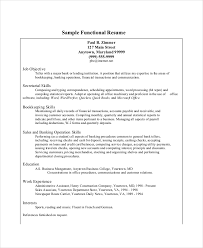 Sample Functional Resume Bank Teller