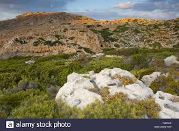 100 Rocky Landscape Landscape With Ancient Ruins Evening Antikythera Island