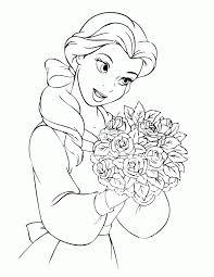 Disney Princess Coloring Pages Belle Page