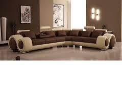 Brown Corduroy Sectional Sofa by Dreamfurniture Com Divani Casa 4087 Modern Bonded Leather