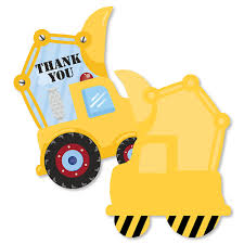 Construction Truck - Shaped Thank You Cards - Baby Shower Or ... Birthday Cstruction Themed Party With Free Printables  Noted Trucks Pictures Amazon Com 12340 Watsons Cstruction Truck Birthday Party Holy City Chic Truck Dessert Cake Plates Napkins And Cups Home Ideas Invitations Monster Fire Envelopes First Themed Invites Items Similar To Augustines 2nd M Loves Stay At Homeista Boys Name Age Poster Crane