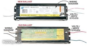 fluorescent light ballast testing iron