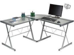 bureau d angle verre bureau d angle verre aluminum occasion
