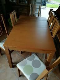 ikea tisch mit 6 stühlen
