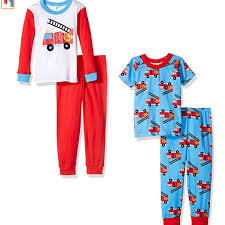 Babydom - Gerber Boys' Baby And 4 Piece Cotton Pajama Set, Fire ...