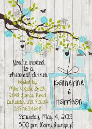 Rustic Rehearsal Dinner Party Wedding Invitation Wood Handmade Personalized Custom Save The Date Card Invite Tree Outdoor Barn Flower Branch