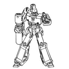 Transformer Putting Down The Gun Free Printable Reading Coloring Pages