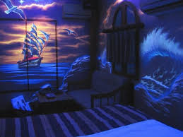 The room by black light