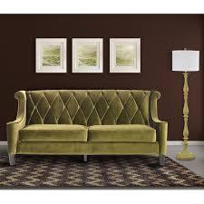 armen living barrister modern green velvet sofa free shipping