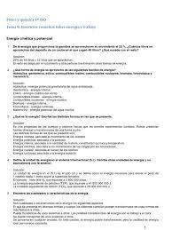 Ejercicios Resueltos Tema 8 Energía Y Trabajo