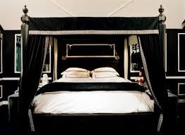 Black Canopy Bed Drapes by Minimalist Dark Brown Wardrobe Cabinet Pink Fur Bed Runner Black