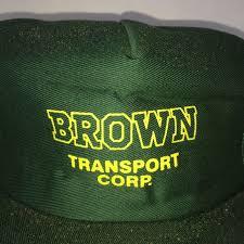 100 Vitran Trucking BROWN Transport Corp Company Hat Vtg Foam Sierra