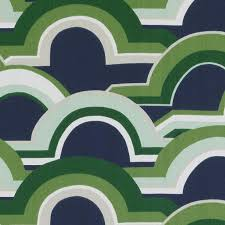 Navy Geometric Pattern Curtains by Emerald Green And Navy Blue Geometric Upholstery Fabric