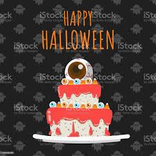 glücklich festliche auge kandis auf kuchen auf schwarzem musterdesign hintergrund schmücken vektorillustration stock