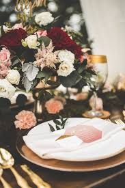 This Wedding Inspiration Proves That Gold Blush And Red Is The Most Romantic Color