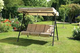 best garden patio metal swing chair seat 3 seater hammock bench