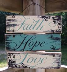 Wire Hung Faith Hope And Love Sign 12x12 Rustic By SignsByFaith