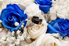 Blue White And Silver Wedding Flowers At Abigails Garden In